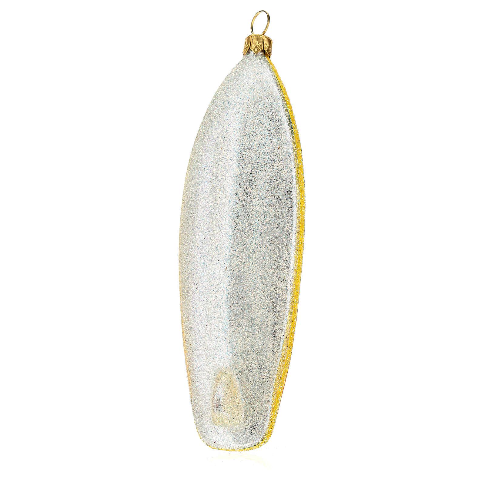 Prancha de surf enfeite para árvore de Natal vidro soprado 4