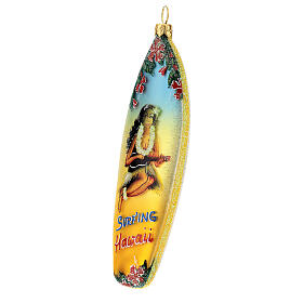 Prancha de surf enfeite para árvore de Natal vidro soprado s2
