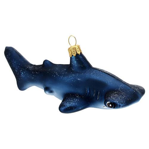 Requin-marteau décoration verre soufflé sapin Noël 3