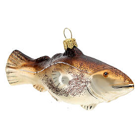 Codfish blown glass Christmas tree decoration s4