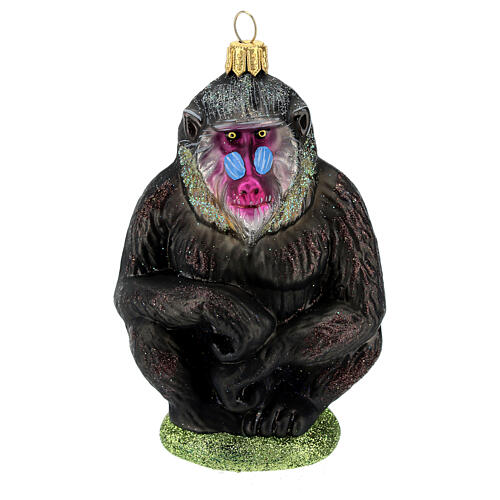 Mandrill blown glass Christmas tree decoration 1