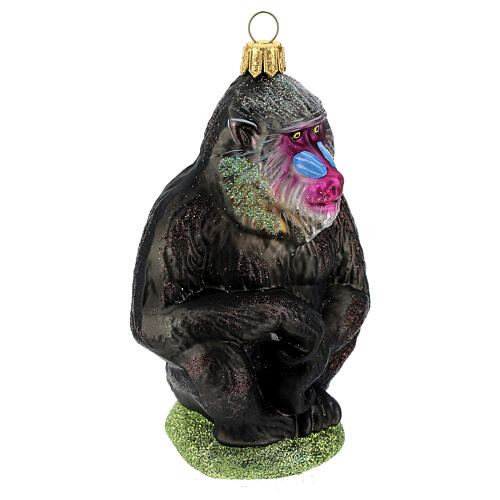 Mandrill blown glass Christmas tree decoration 3