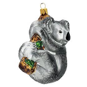 Koala sur branche décoration verre soufflé sapin Noël s3