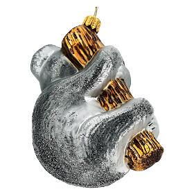 Koala sur branche décoration verre soufflé sapin Noël s5