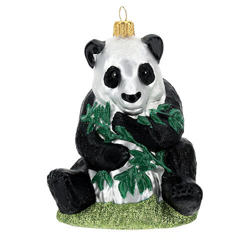 Panda blown glass Christmas tree decoration 1