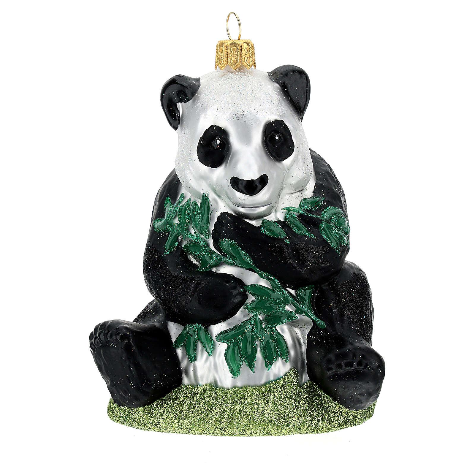 Panda decoración árbol Navidad vidrio soplado 4