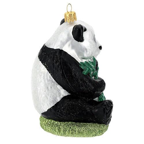 Panda decoración árbol Navidad vidrio soplado 5