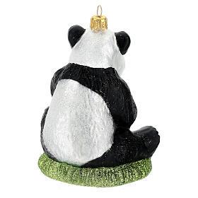 Panda decorazione vetro soffiato albero Natale s6