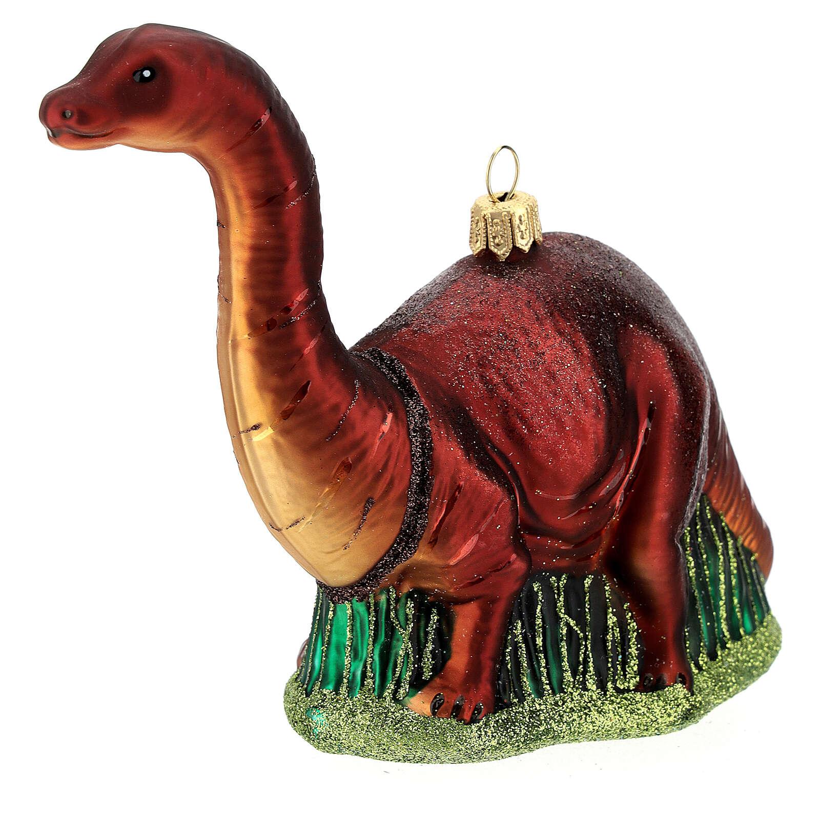 Brontosaurio decoración árbol Navidad vidrio soplado 4