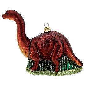 Blown glass Christmas ornament, brontosaurus s1