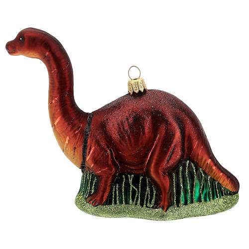 Blown glass Christmas ornament, brontosaurus 1