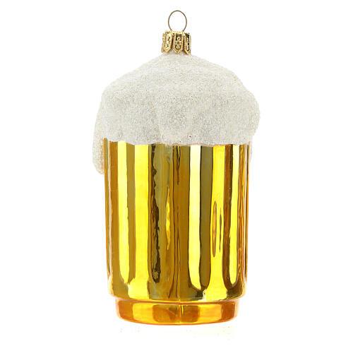 Boccale birra decorazione albero Natale vetro soffiato 4