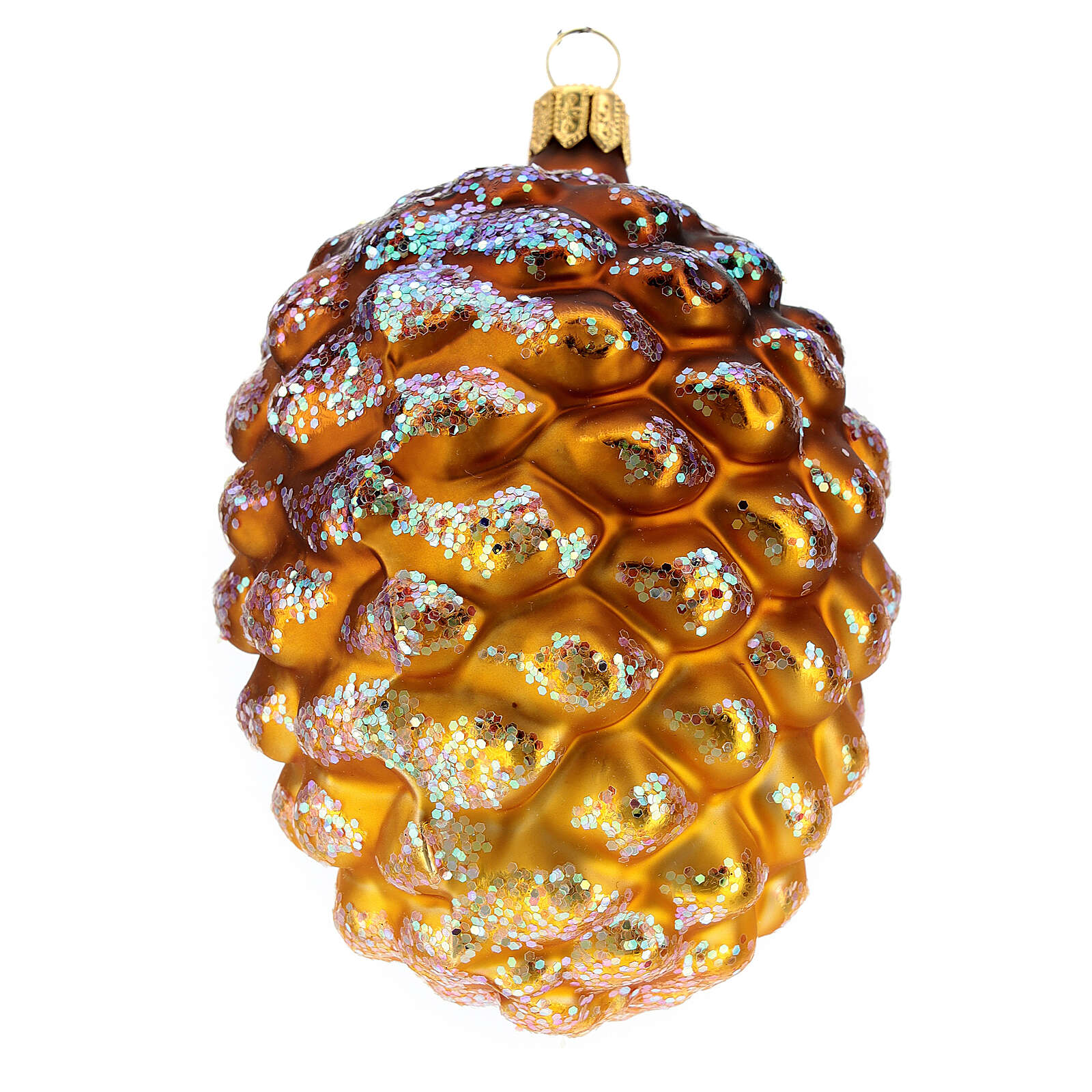 Blown glass Christmas ornament, pine cone 4