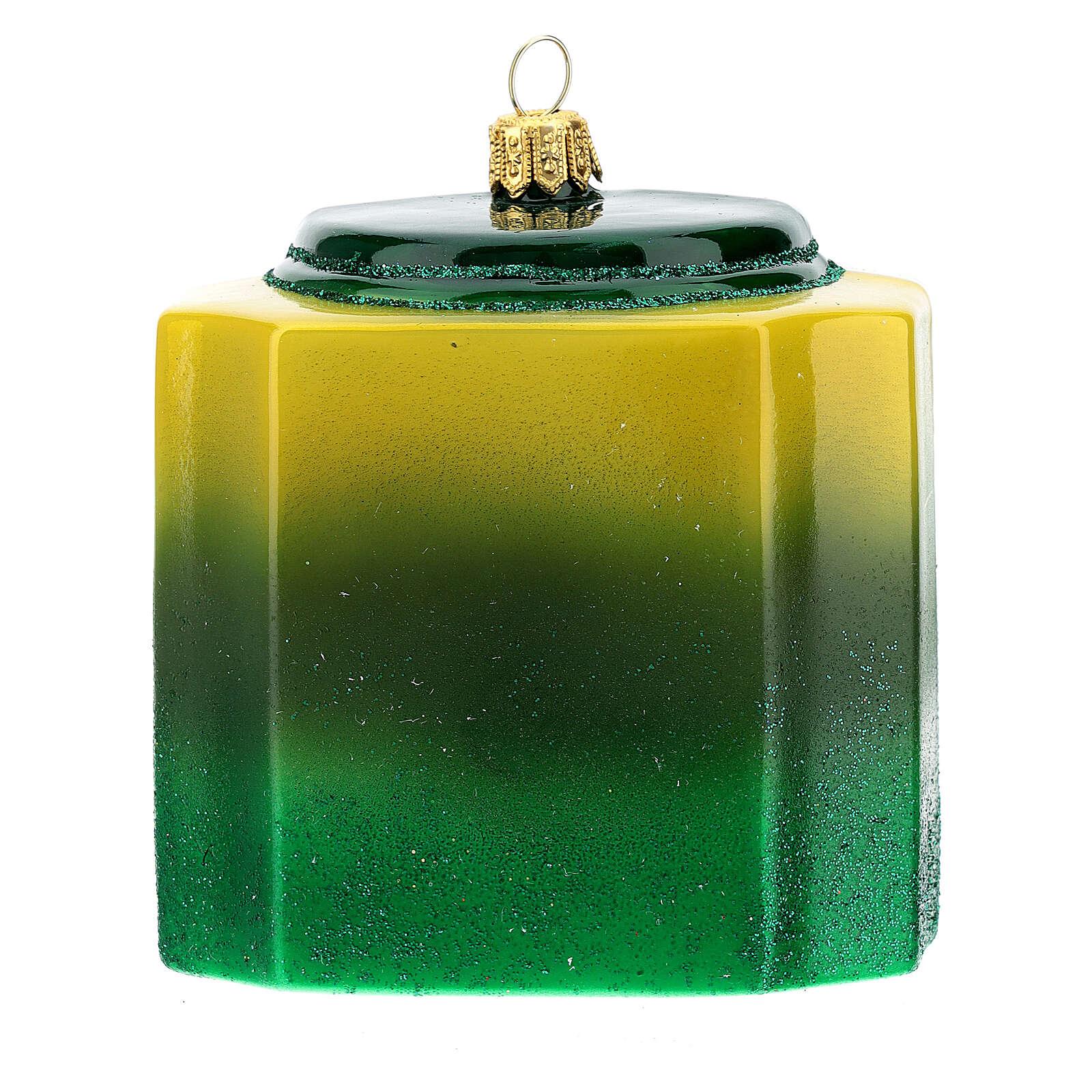 Confezione tè verde vetro soffiato decoro albero Natale 4