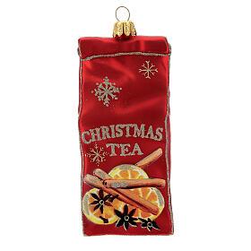 Thé sachet décoration sapin Noël verre soufflé s1