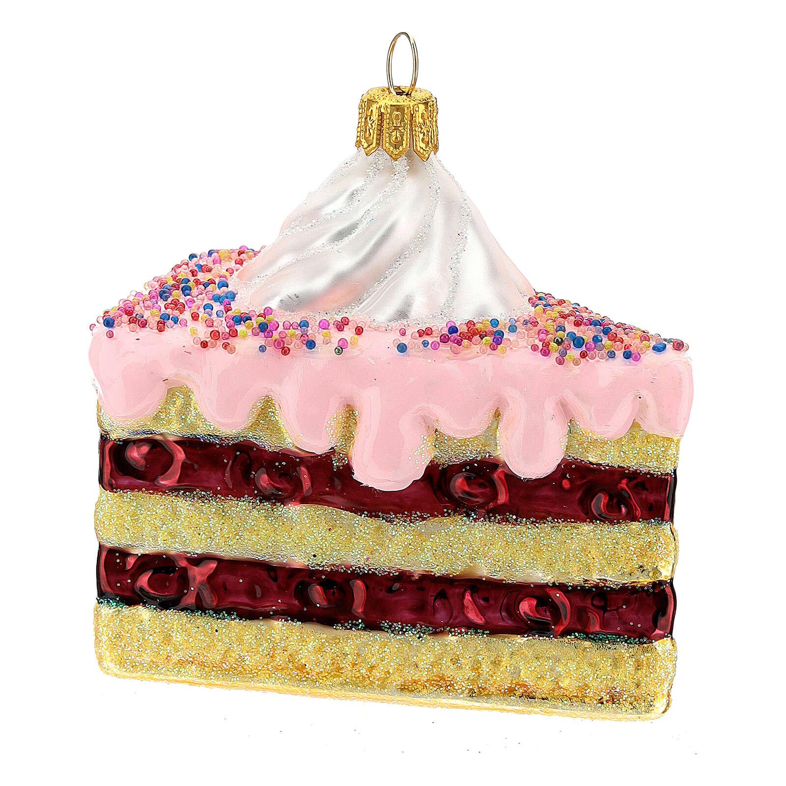 Gâteau à étages verre soufflé décoration sapin Noël 4