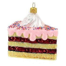 Gâteau à étages verre soufflé décoration sapin Noël s3