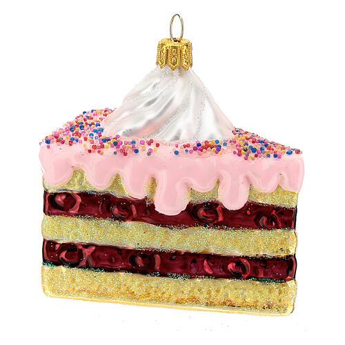 Gâteau à étages verre soufflé décoration sapin Noël 3