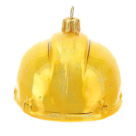 Safety helmet in blown glass Christmas tree decoration s6