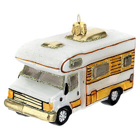 Blown glass Christmas ornament, RV camper s2