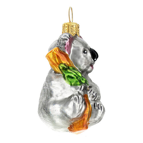 Koala vidrio soplado adorno árbol Navidad 3