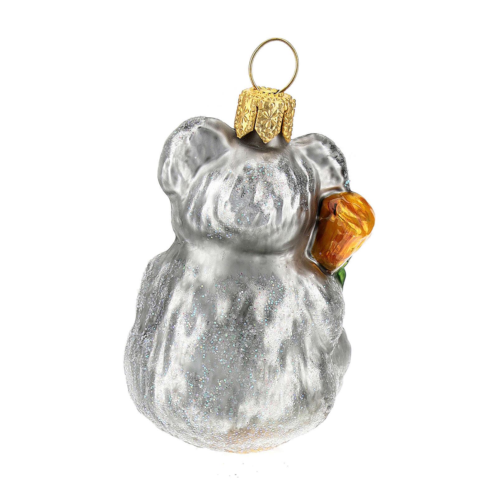 Blown glass Christmas ornament, koala 4