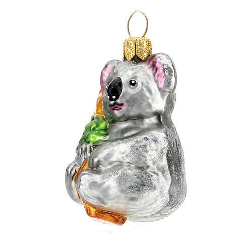 Blown glass Christmas ornament, koala 2