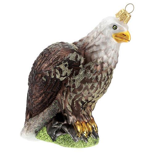 Águila con cabeza blanca vidrio soplado árbol Navidad 3