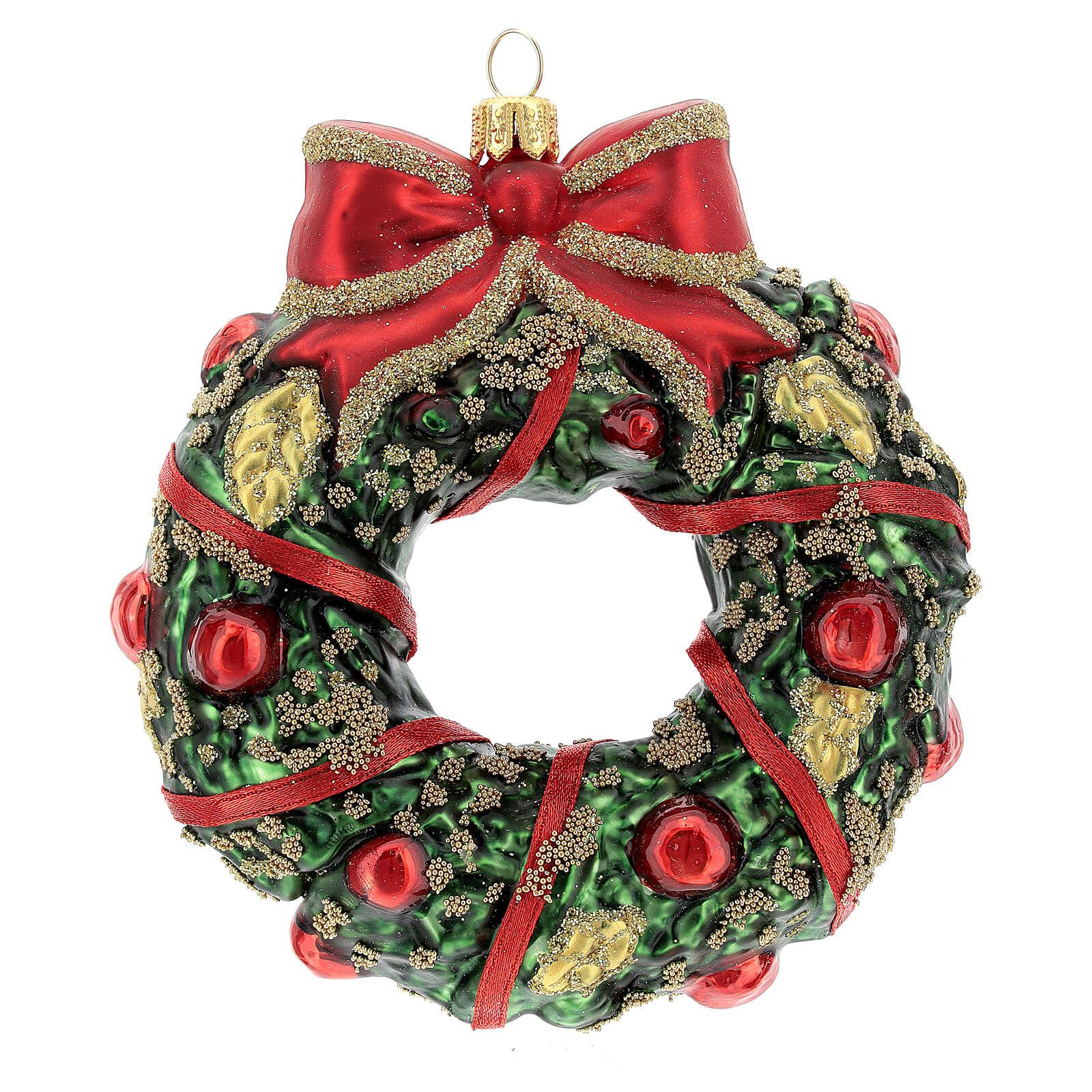 Guirnalda navideña vidrio soplado decoración árbol Navidad 4