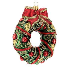 Ghirlanda natalizia vetro soffiato decoro albero Natale s3