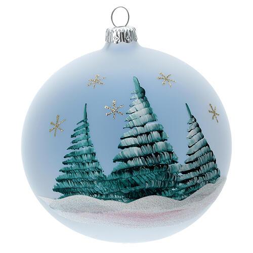 Palla albero Natale vetro soffiato Sacra Famiglia cometa 120 mm 5