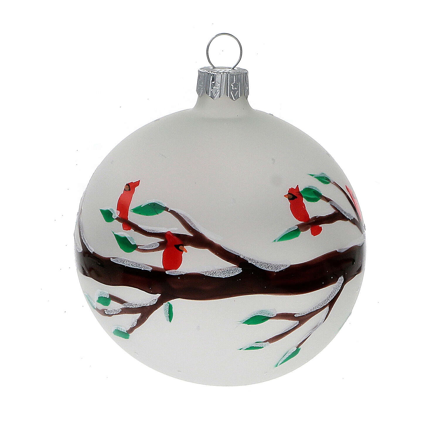 Christmas tree Christmas tree branches red birds blown glass 80 mm 6 pcs 4