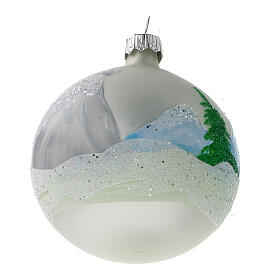 Christmas tree ornaments winter cottage blown glass 80 mm 6 pcs s4