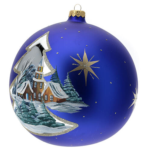 Christmas ball village golden tree blown glass 200 mm 2