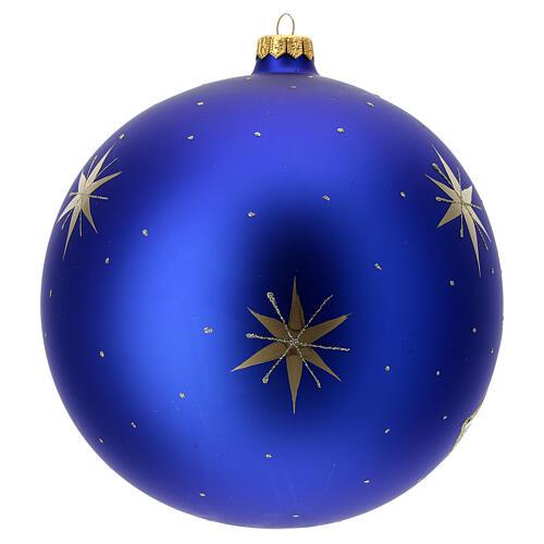 Pallina Natale villaggio albero dorato vetro soffiato 200 mm 4