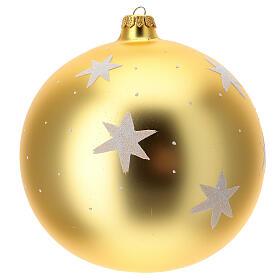 Bola árvore de Natal Pai Natal junto ao fogo vidro soprado 200 mm s4