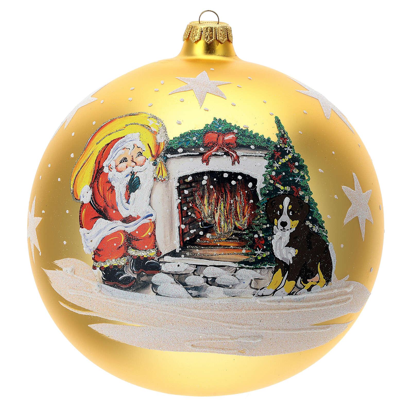 Christmas tree ornament Santa fireplace 200 mm 4