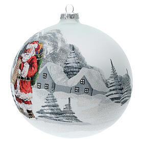 Christmas tree ball Santa Claus snow village blown glass 150 mm s3