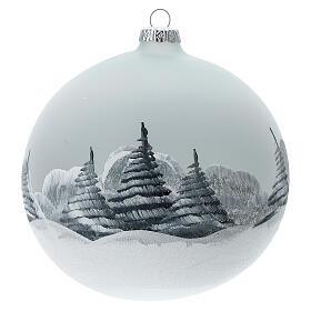 Christmas tree ball Santa Claus snow village blown glass 150 mm s5