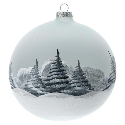 Christmas tree ball Santa Claus snow village blown glass 150 mm 5