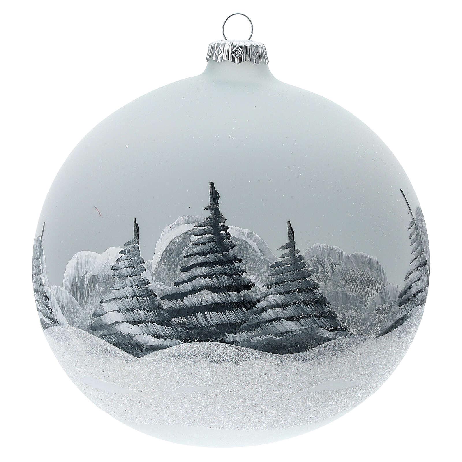 Christmas ball ornament Santa Claus winter village blown glass 150 mm 4