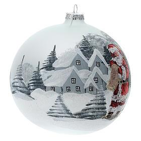 Christmas ball ornament Santa Claus winter village blown glass 150 mm s3
