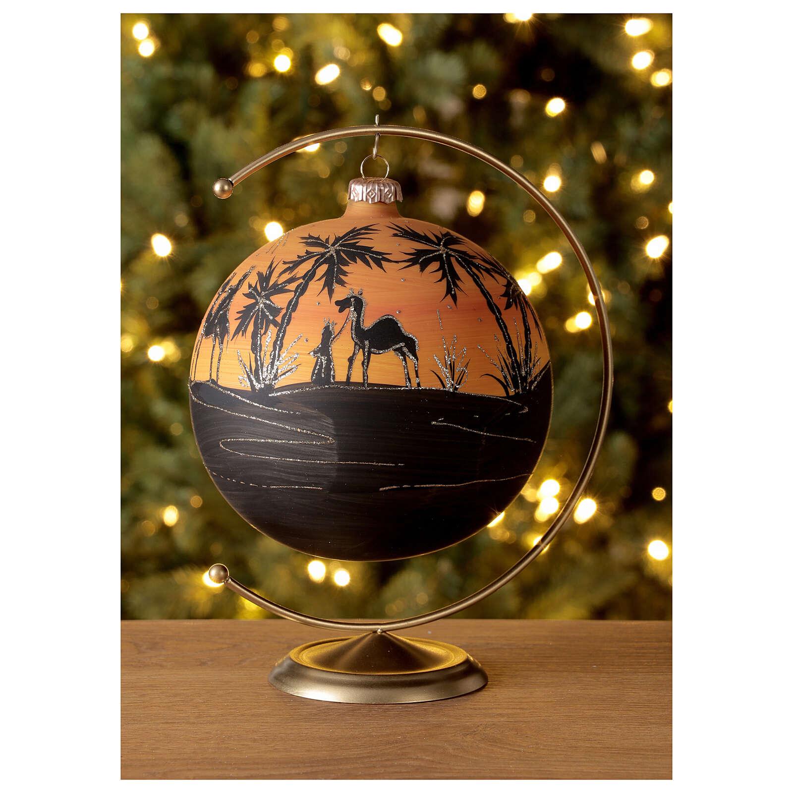 Christmas ball camels sunset blown glass 150 mm 4