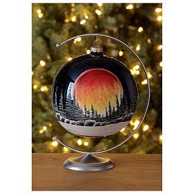 Christmas tree ball black moon red blown glass 150 mm s2