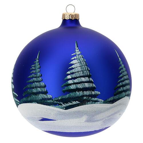 Christmas tree ball Nativity hut blown glass 150 mm 5