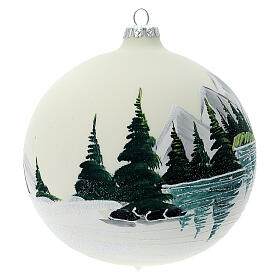 Christmas tree ball alpine lake blown glass 150 mm s3