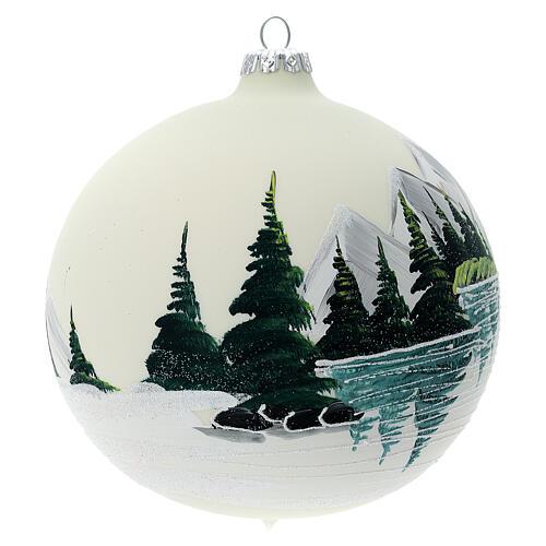Christmas tree ball alpine lake blown glass 150 mm 3