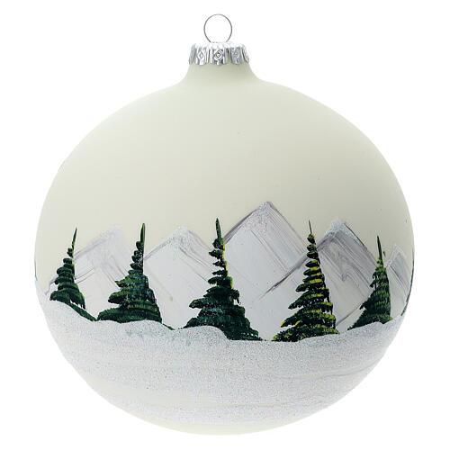 Christmas tree ball alpine lake blown glass 150 mm 4