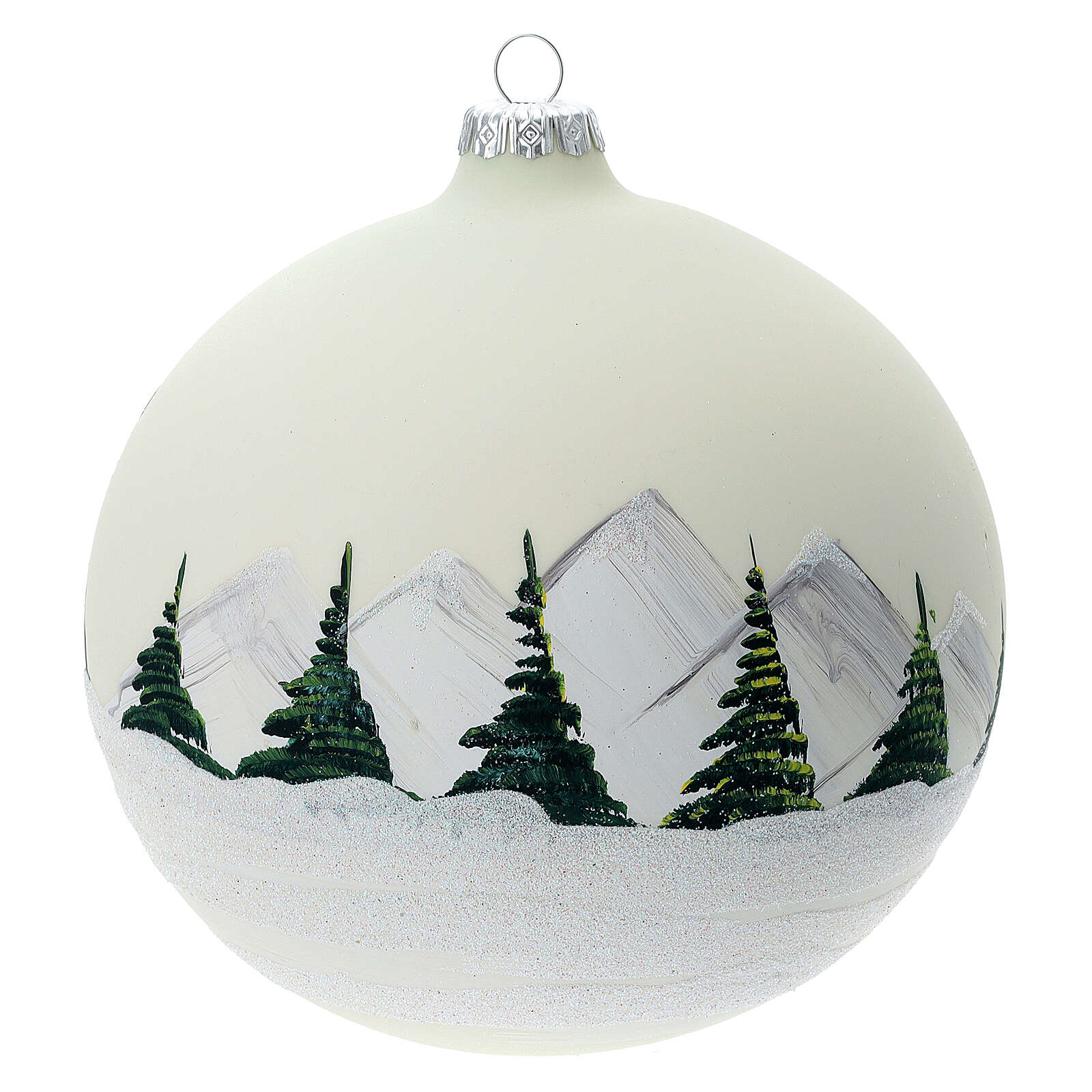 Glass ball ornament alpine lake 150 mm 4