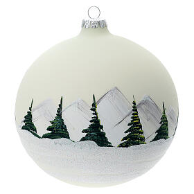 Glass ball ornament alpine lake 150 mm s5